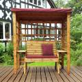 Charles Taylor Wentworth Two Seat Arbour with Burgundy Cushions