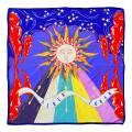 Alber Zoran Multi Stars/Sun Printed Scarf
