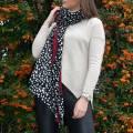 JayLey Collection Black Spot Cashmere Blend Wrap