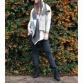 JayLey Collection Grey/Blue Multi Check Cashmere Blend Wrap