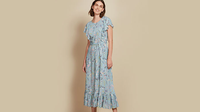 Baukjen Find your perfect spring outfit from this edit of printed midi dresses and skirts, pastel jeans and lightweight knits by Baukjen. Dresses from £35.
