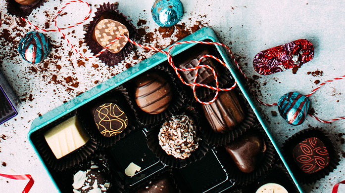 Christmas Treats Ideal for self-professed foodies, shop a range of sweet treats and festive food by Cartwright & Butler, Choc On Choc and The Carved Angel.