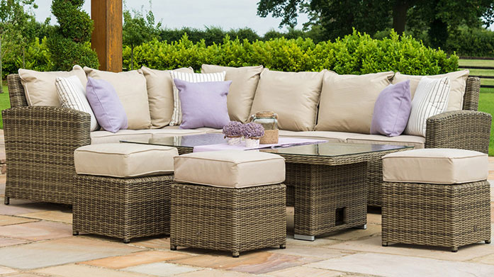 Garden Clearance by Maze Rattan Maze's chic range of garden furniture is crafted in weatherproof rattan so it'll look stylish summer after summer.