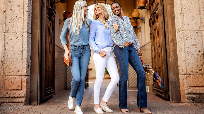 NYDJ Finally have the time for jeans shopping? Find your perfect pair in this collection of designer denim by NYDJ. Styles include skinny, ankle and bootcut. Jeans from £39.