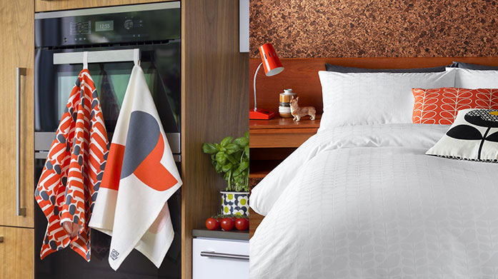 Orla Kiely Home Transform your home into a retro inspired masterpiece with a little help from Orla Kiely's signature printed bedding, curtains and kitchenware.