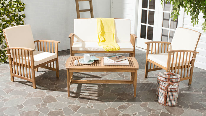 Safavieh Outdoor Furniture Turn your garden into a dream destination with quality outdoor furniture by Safavieh. Shop tables, benches and garden chairs.