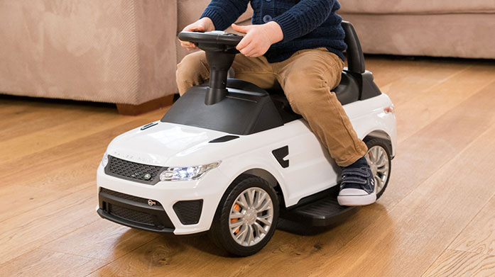 Buyer's Pick: Range Rover Ride-On Zoom zoom! Get the kids the ultimate toy with an electric Range Rover car or ride along car that converts into a suitcase!