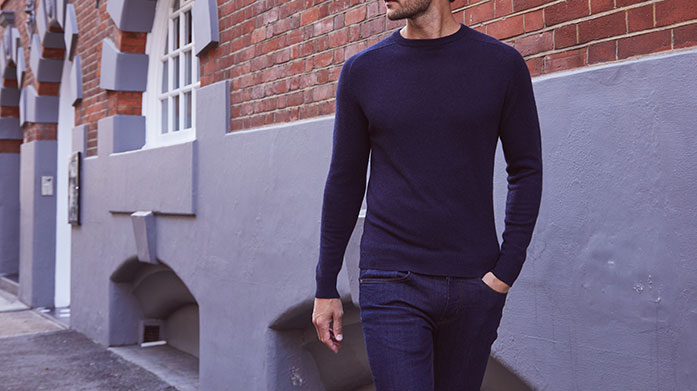Mens Cashmere Clearance Add some statement cashmere to your repertoire. Whether you're hoping for a funnel neck zip style or a classic knit, there's plenty of pieces to suit.
