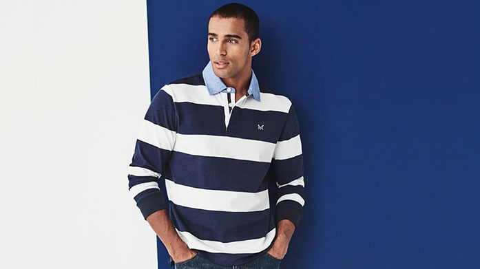 Crew Clothing Men's Bring cool and classic styles to your spring wardrobe with Crew Clothing menswear. Choose from seasonal jackets and knitwear, trousers and polos.