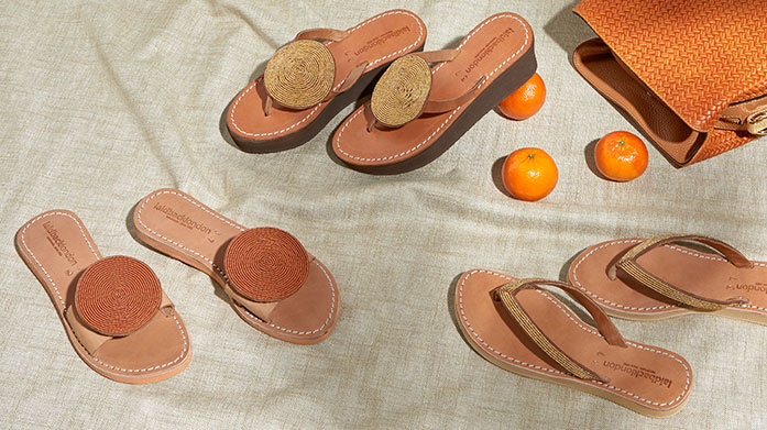 Laidback London Artisan Sandals Laidback London sandals are ethically and sustainably handmade in Kenya. This brand new edit features wedges and flats with beautiful embellishments.