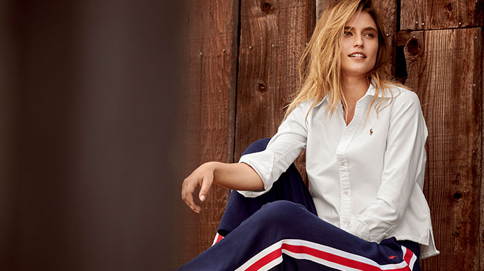 Ralph Lauren Womenswear Allow Ralph Lauren to take you seamlessly into spring with transitional coats and jackets, casual knitwear, signature shirts and accessories to match. Dresses from £49.