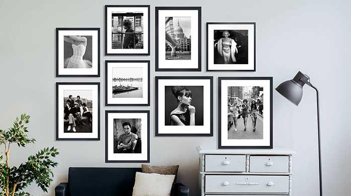 How to Create a Gallery Wall With a selection of monochrome prints, nature-inspired artwork and musical portraits, create your very own gallery wall at home.