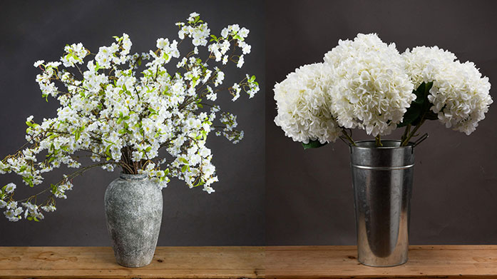 Faux Flowers Boutique For flowers that will last a lifetime, shop our faux edit of hydrangeas, rose bouquets and bamboo plants from Hill Interiors.