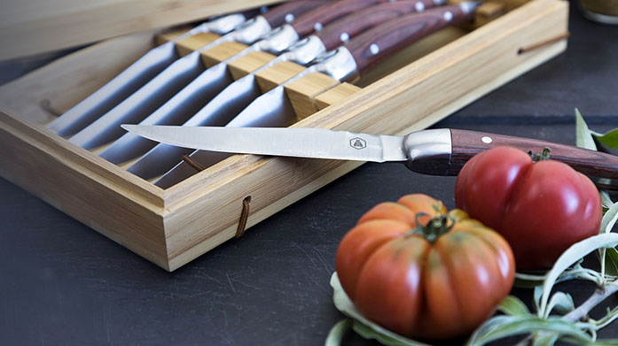Laguiole Known for their classic, signature designs, Laguiole's cutlery and dining accessories will bring a touch of fine dining to every meal at home.