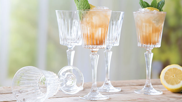 RCR Crystal Toast to beautiful glassware with this classic collection of crystal cut wine glasses, tumblers and champagne flutes by RCR Crystal.