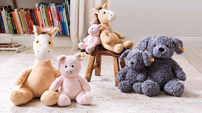 Steiff Plush Toys Adorable comforters, cute stuffed animals and iconic cuddly teddy bears from world famous manufacturer, Steiff.