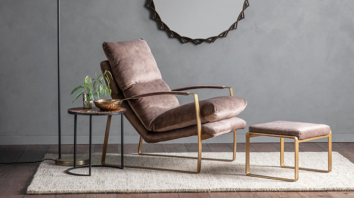 Statement Seating by Gallery Make a statement in your home with our collection of luxe seating, featuring upholstered chairs, leather sofas and tall palmers stools.