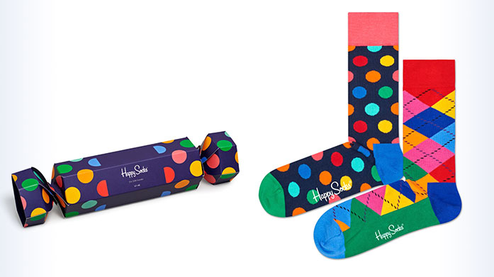 Happy Socks & More Gifts For Him Get him a pair of men's socks he'll really want for Christmas! From everyday essentials to festive prints, there's a sock for every man...
