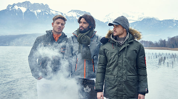 Winter Wardrobe for Him Upgrade your winter wardrobe with a new coat from Canadian Peak, gilet by Crew Clothing and range of casual shirts from Geographical Norway.