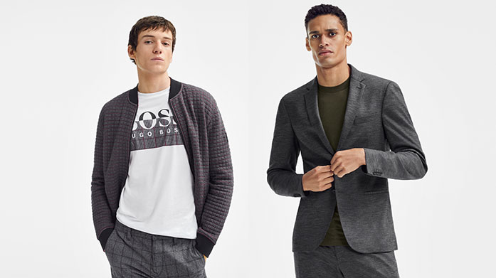 BOSS The New Year Start the new year in style with BOSS for him. Discover smart-casual pieces, from outerwear and knitwear to shirts and suit separates. Jackets from £99.