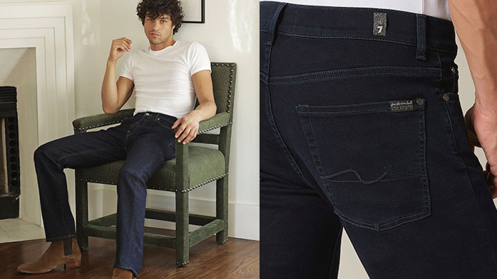 New 7 For All Mankind & J Brand Men's Jeans Let 7 For All Mankind & J Brand elevate your look with premium men's jeans and denim shirts in a range of authentic washes and cuts. Jeans from £55.