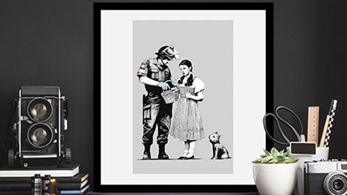 Banksy Wall Art Bring a little Banksy into your home with this framed collection of some of the anonymous artists' most iconic prints.
