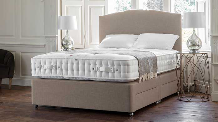The Portobello Hand Tufted Mattresses by Gallery A decadent blend of cashmere, silk and alpaca wool create an all-natural night's sleep on Gallery's hand tufted mattresses.