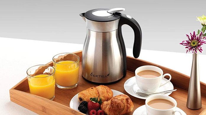 Vektra Kettles Keep boiled water hot for up to four hours with Vektra's stylish, energy-saving insulated eco kettles in a range of designs.