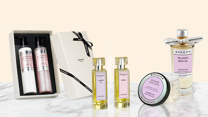 Bahoma Bath & Body Gifting The ultimate Christmas or birthday present: beautifully fragranced luxurious bath and body gift sets by Bahoma.