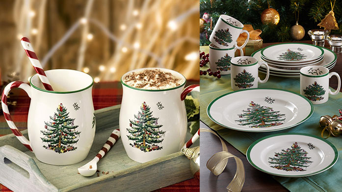 Spode Christmas Tree Collection Tis the season to be jolly,  and what better way to celebrate that festive cheer than with Spode's range of high quality Christmas homeware.