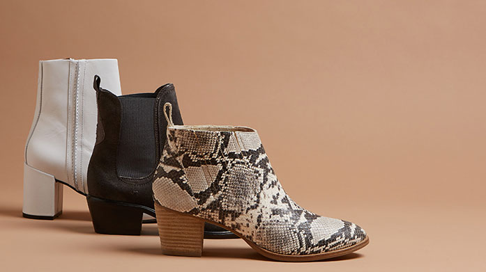 Give 'em the Boots Shop of curated edit of winter boots for women in varying styles including flat boots, ankle boots, knee high and over the knee boots.