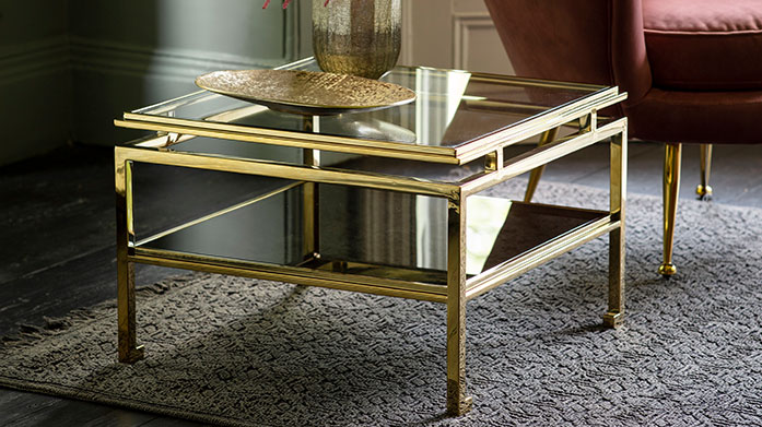 Luxe Living Room Furniture by Gallery Shop our new collection of Gallery living room furniture, including classic console tables, contemporary coffee tables and sleek glass display units.
