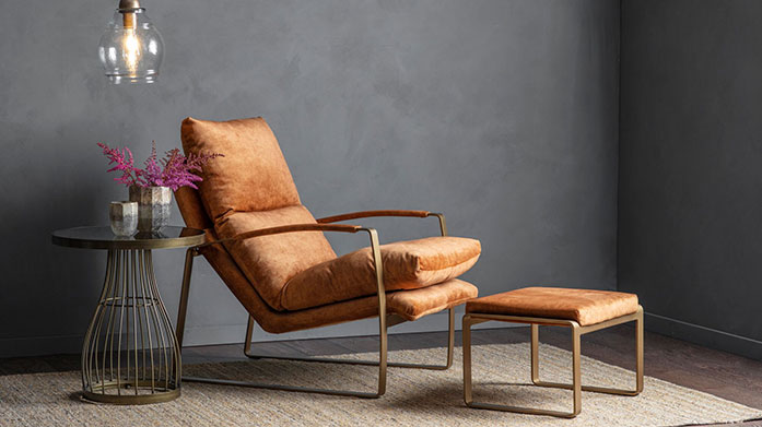 Leather & Linen: Upholstery Edit by Gallery Update your home with luxury upholstered furniture, from leather antique chairs and stools to linen covered sofas.