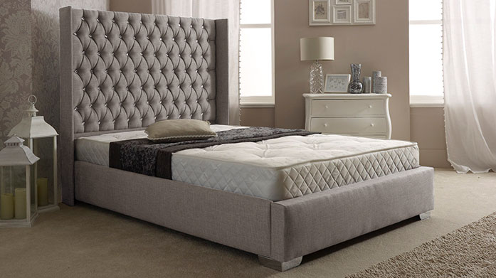Stately Bedsteads Recreate a hotel-worthy bedroom at home with these luxe, stately bedsteads and bed frames by Aspire Furniture.