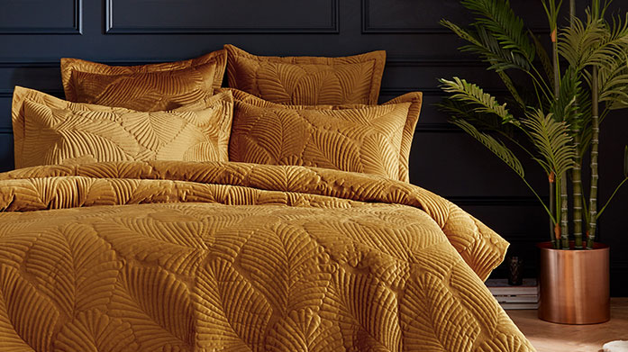 Bedroom Updates  Your dream duvet set is just seconds away... it's always a good time to invest in some decadent gold or printed bedding.