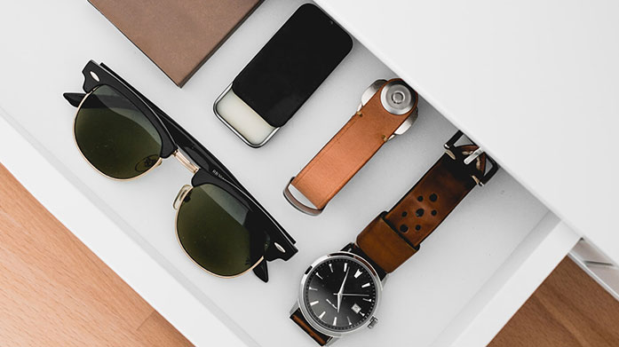 Easy Men's Accessories Look effortlessly cool with this selection of men's designer accessories by Barbour, Bvlgari, Hindenberg and Tom Ford.