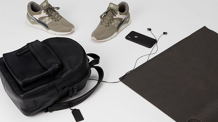 Outdoor Fitness Backpacks Head on your daily jog or workout in the garden with the help of an outdoor fitness backpack by AllSaints, Hunter, Radley and KNOMO.