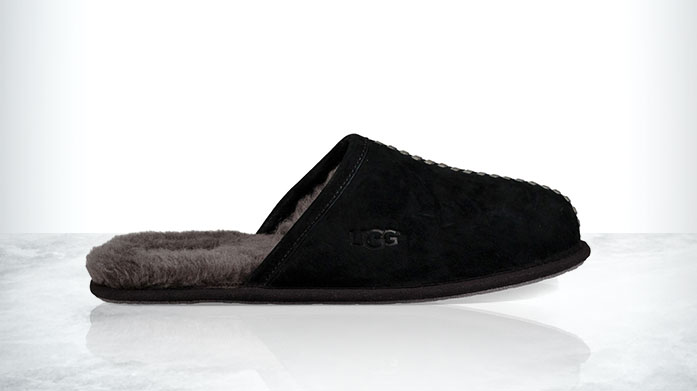 Sheepskin Slippers: Your Thumbs Up Friend!  Our men's sheepskin slipper sale feature ultra-comfy styles by Fenlands Sheepskin or UGG - the essential working from home shoe!