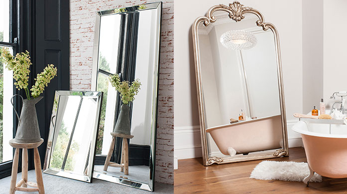 Stylish Shaped Mirrors Bedroom, hallway or bathroom, bring light into any home with this statement mirror from Gallery.