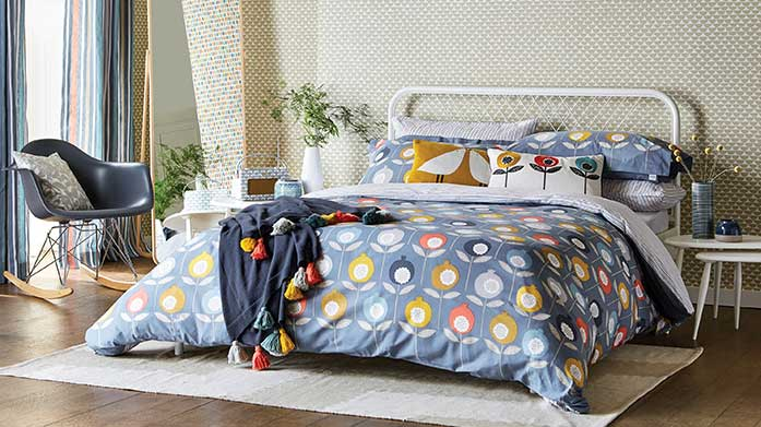 Scion Bed Linen Scion's playful and fun designs bring a smile to the everyday. Discover zesty, Scandi-inspired designs for your bedroom.