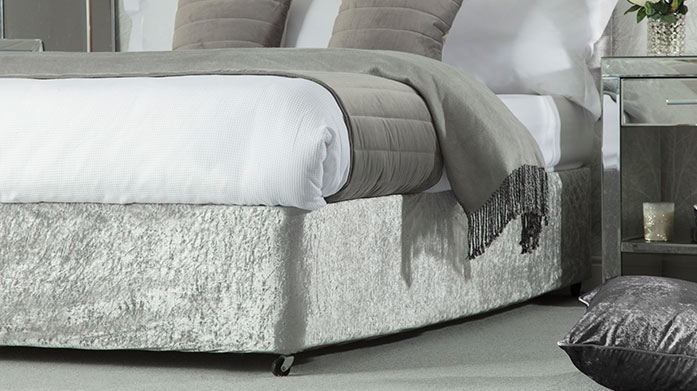 Divan Bed Base Wraps Change the look and feel of your bed with a modern base wrap from Belledorm. Available in silver, champagne, charcoal and chocolate brown.