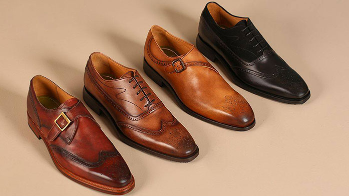 Brogues & Derbies Whatever the occasion, ensure you look dapper in a pair of leather brogues or suede derby shoes by Dune, H by Hudson or Bally.