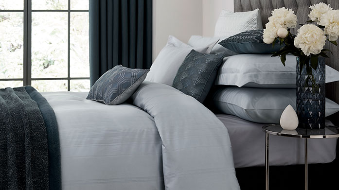 Peacock Blue Bed Linen Bring some cool and contemporary linen into your home with soft bedding and towels by Peacock Blue.
