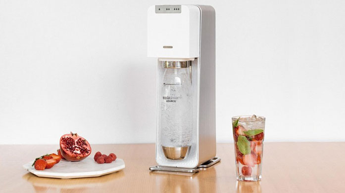 Buyer's Pick: SodaStream Reduce your single use plastic and make your own sparkling drinks or carbonated water at home with this innovative sparkling water maker by Sodastream.