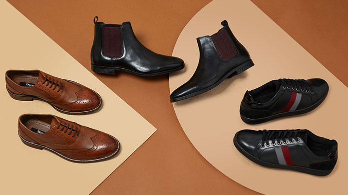 Dune London New Winter Collection Men Complete your winter styling with Dune's new collection for men, featuring smart leather brogues, loafers, ankle boots and more.