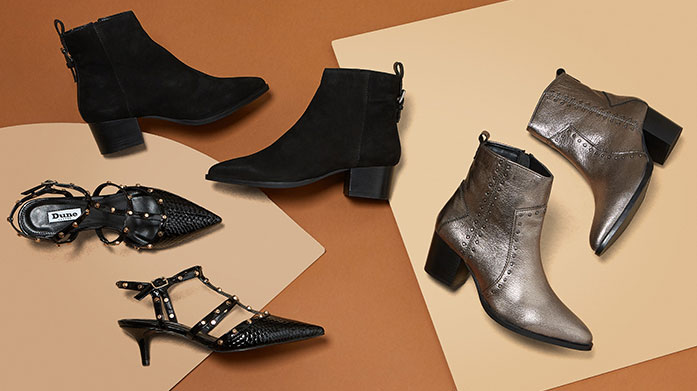 Dune London New Winter Collection Women  From must-have leather ankle boots to glamorous animal print flats, there's a pair of shoes for every woman in Dune's new winter collection!