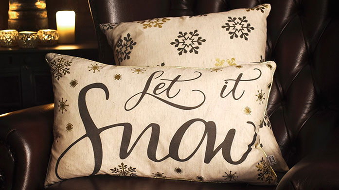 Gallery Christmas Shop Transform your home into a winter wonderland with Christmas decorations, festive cushions and draught excluders by Gallery.