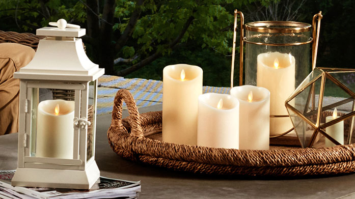 Luminara Real Flame Effect Candles Create a relaxing home haven with Luminara's real flame effect, scent-infused candles and outdoor lanterns.