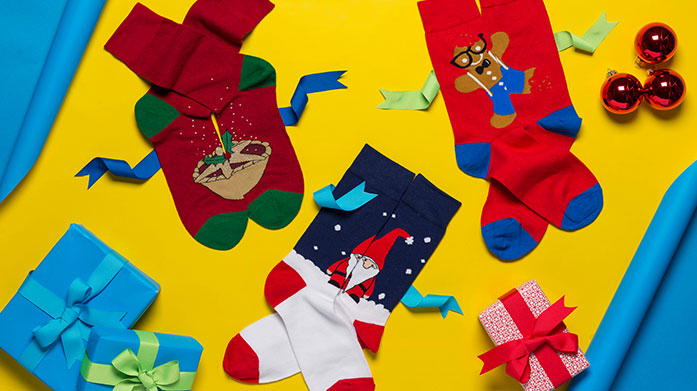 Men's Christmas Sock Gifts - Pringle & More! Surprise him with a luxury pair of socks or boxers he'll really want! Shop funky socks, slippers and underwear for men by Pringle and Wild Feet.