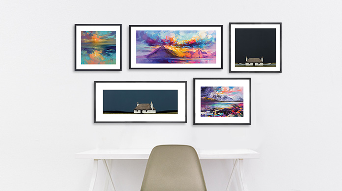 Ron Lawson & Scott Naismith Framed Art Renowned for their use of abstract colour, Ron Lawson and Scott Naismith's art will bring a contemporary and vibrant flair to your walls.